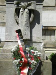 Ofrenda floral aos mortos na folga de 1901