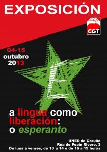 Cartel exposición esperanto Coruña