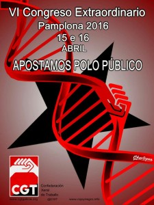 Cartel Congreso Pamplona gallego